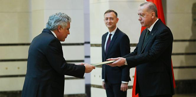 Cumhurbaşkanı Erdoğan, Brezilya Büyükelçisini kabul etti