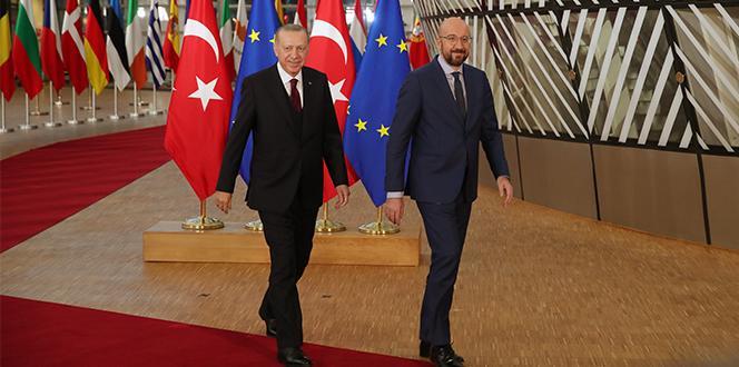 Cumhurbaşkanı Erdoğan, AB Konseyi Başkanı ve AB Komisyonu Başkanı ile görüştü